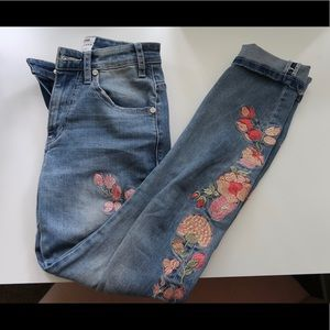 One Teaspoon for Free People Embroidered Denim 25